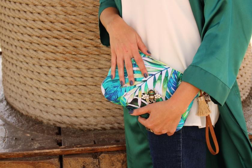 Cuidatuimagen, Cavas Torelló Mata, kimono verde esmeralda, bolso Ana creativa, tropicalisimo,plataformas, escenario, cavas 6