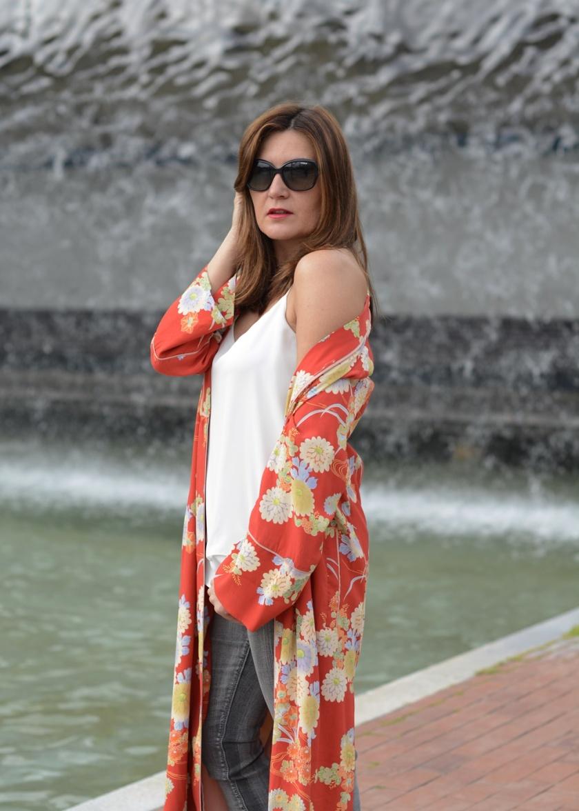 Cuida tu imagen, summer looks, kimonos, naranja, zara, asesora de imagen 2