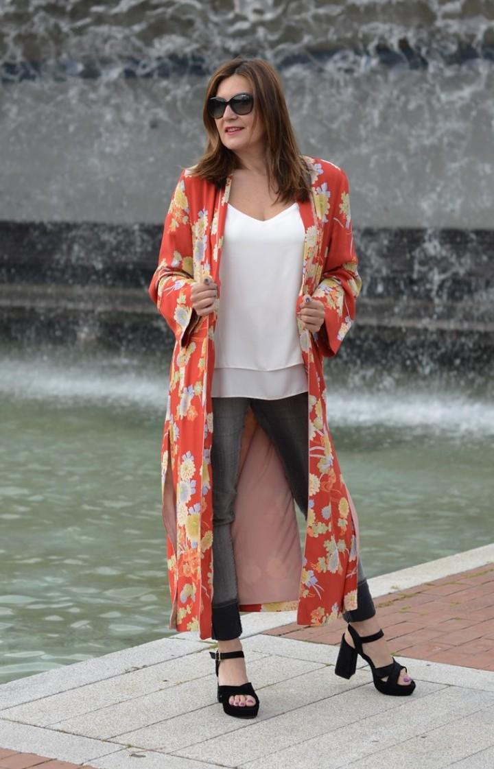 Cuida tu imagen, summer looks, kimonos, naranja, zara, asesora de imagen 3