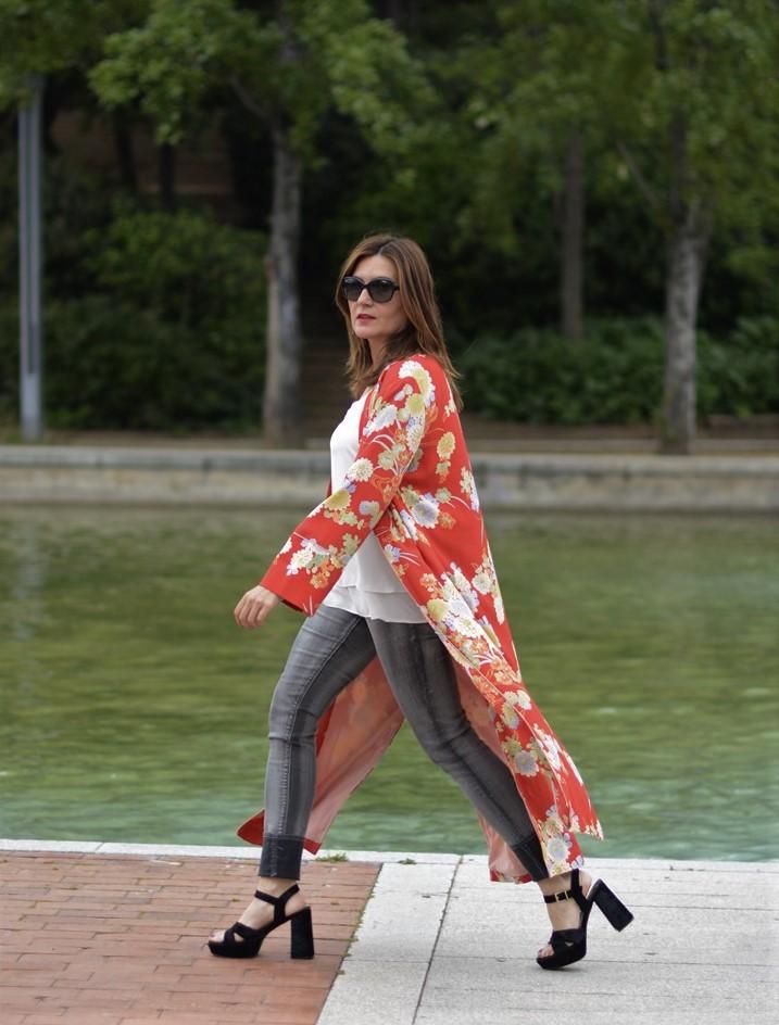 Cuida tu imagen, summer looks, kimonos, naranja, zara, asesora de imagen 7