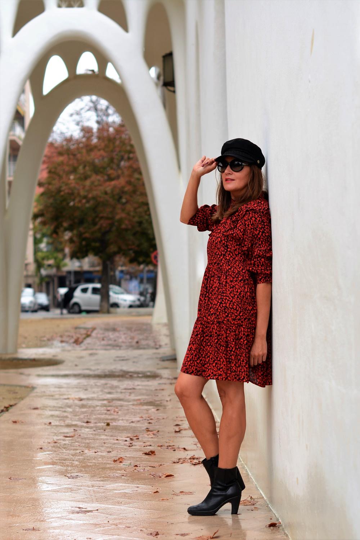 Cap Freixa Looks Animal botinespons Zara Quintana Masia Cuidatuimagen Print 5 Rojo Autumn Vestido Gorra 1qgw7x86